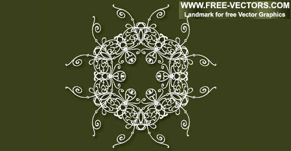 free vector Design elements - Decorative free vector on the green background