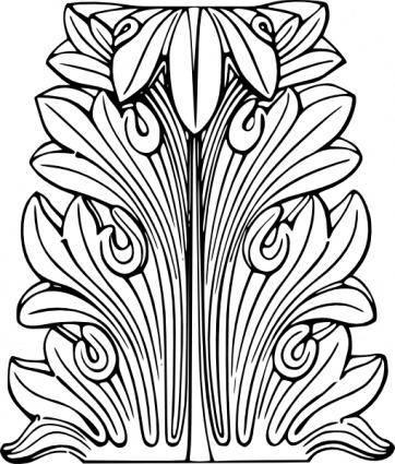 Acanthus Leaf clip art