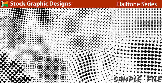 free vector Design elements - halftone series