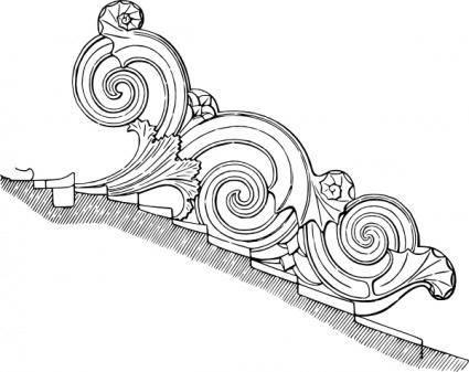 free vector Corinthian Ornament clip art