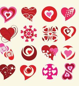 Hearts Sprout Vector