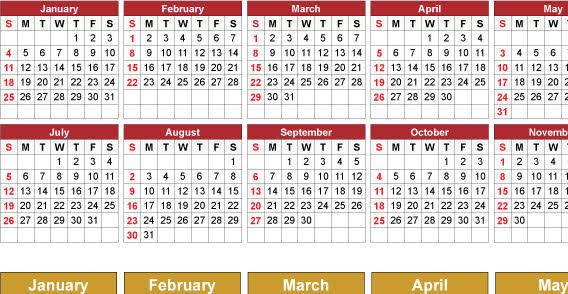 2009 calendar free vector set
