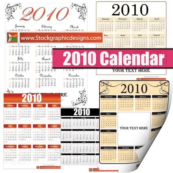 Free Vector Calendar Set