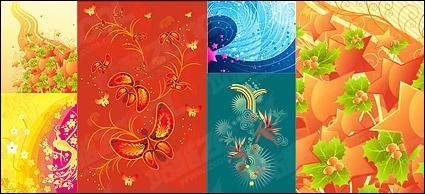 Fashion Trend theme of the tread material vector illustrations
