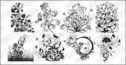 free vector Vector pattern and trend of plant material