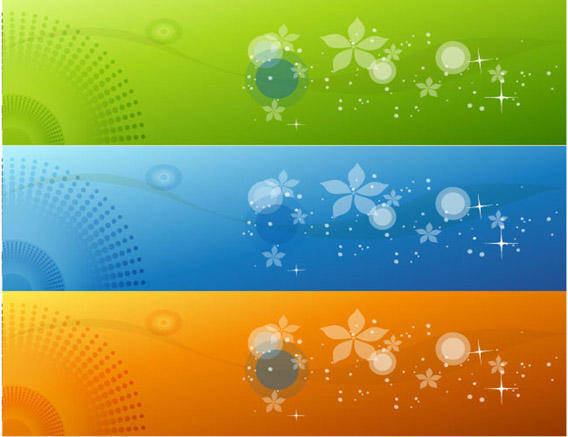 free vector Color Banners