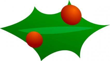 Christmas Leaf Decoration clip art