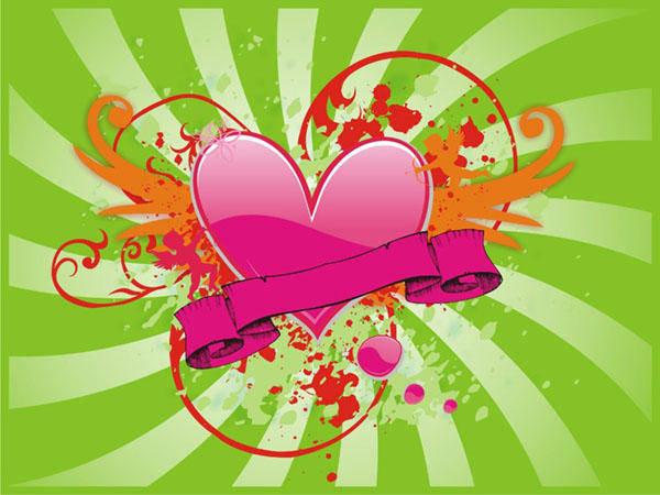 free vector Vector Heart