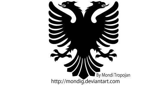 free vector Albanian vector eagle