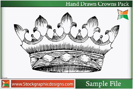free vector Hand Drawn Crowns