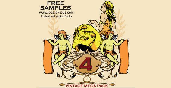 Vintage mega free vector