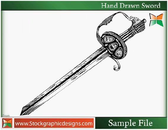 free vector Hand Drawn Sword