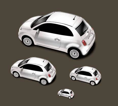 free vector New Fiat 500