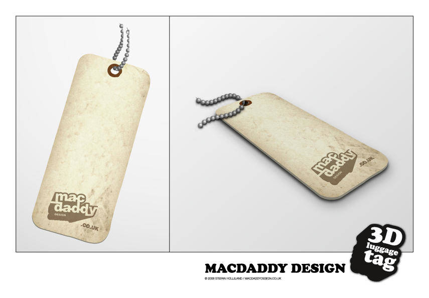 free vector 3D Luggage Tag