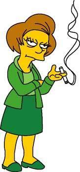 free vector Mrs. Edna Krabappel 1