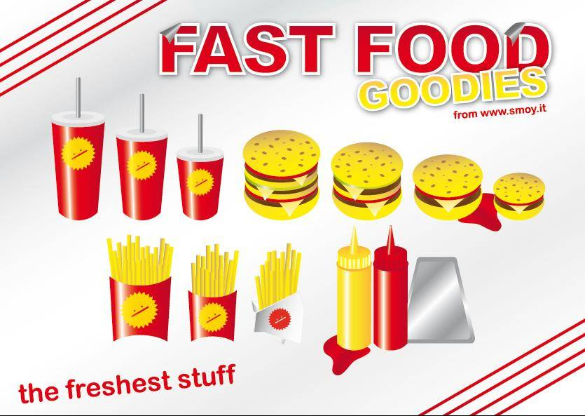 free vector Fast Food Goodies