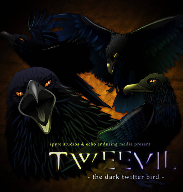free vector Tweevil - The Dark Twitter Bird