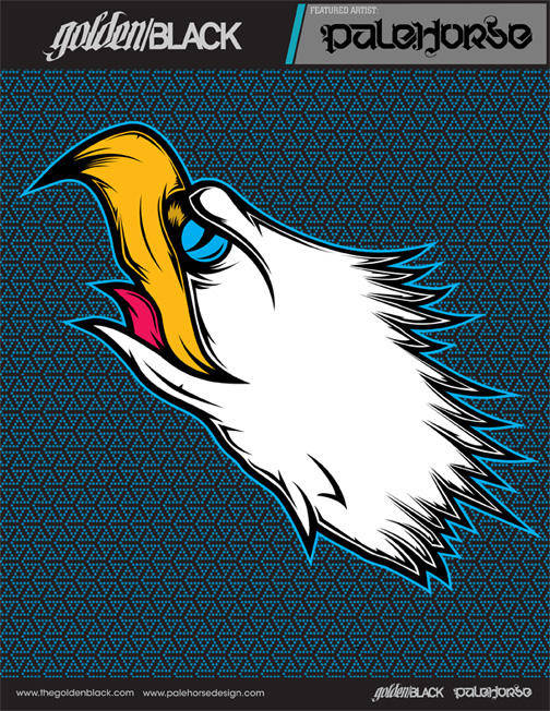 Tattoo-inspired eagle head illustration