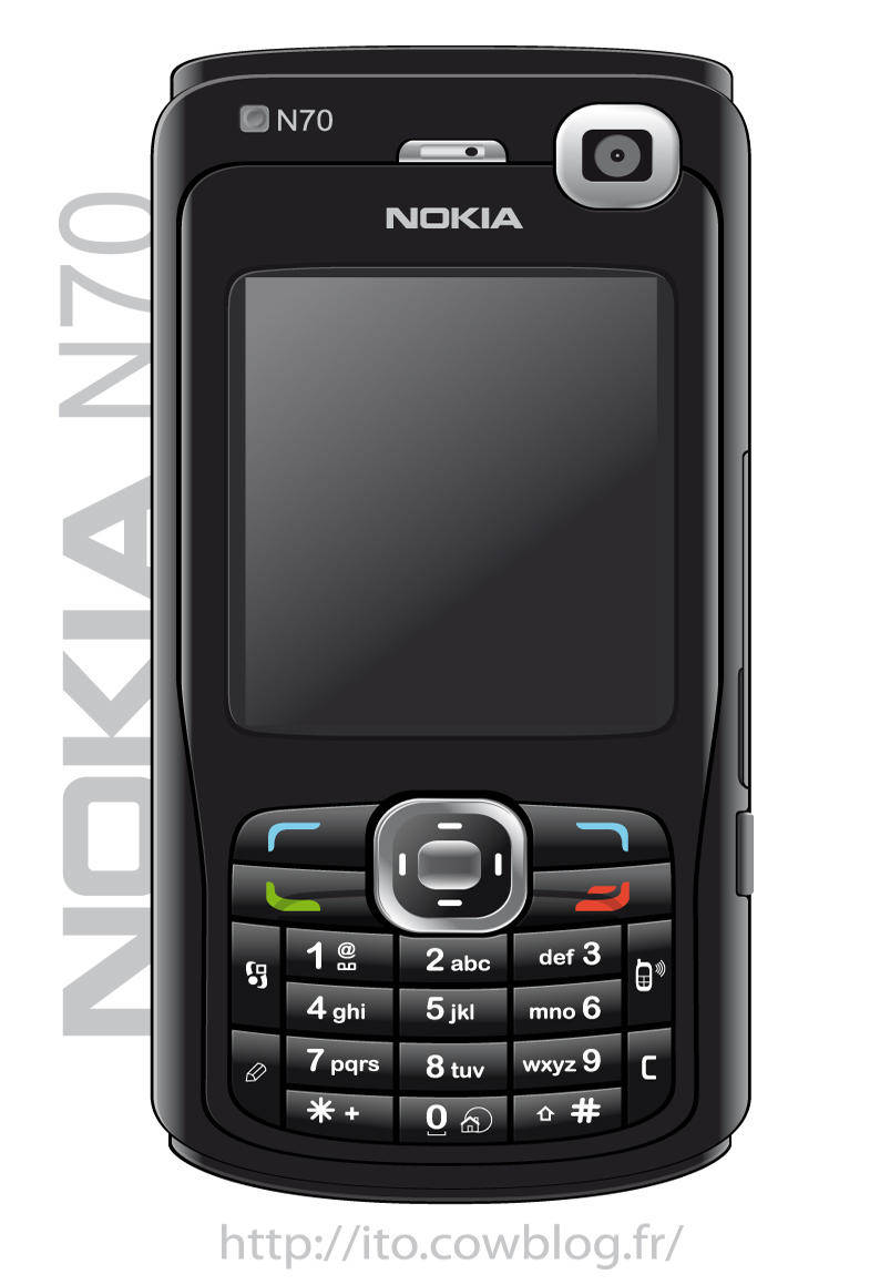 free vector Nokia N70 Black Edition