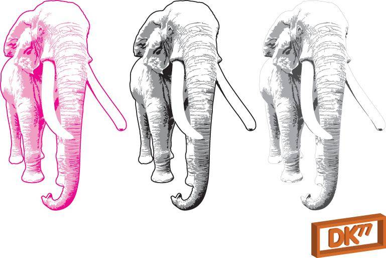 free vector Elephant Illustration