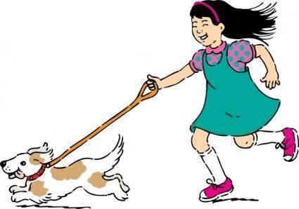 Walking Dog clip art