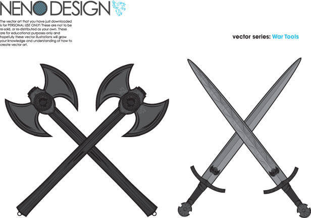 War Tools - Axes and Swords