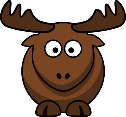 free vector Cartoon Elk clip art