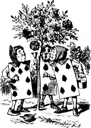 free vector Alice In Wonderland Card Men clip art