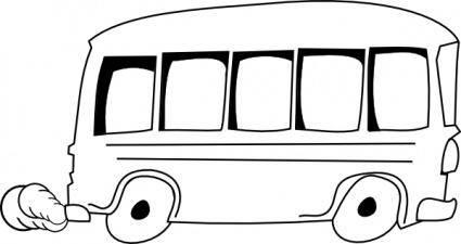 free vector School Bus Outline clip art