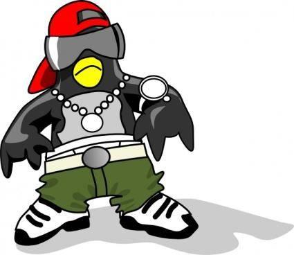 free vector Hip-hop Tux clip art