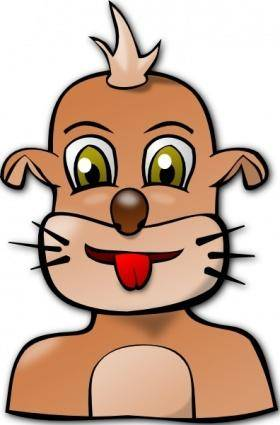 Dog Face Cartoon clip art