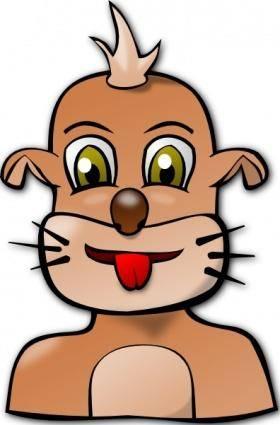 free vector Dog Face Cartoon clip art