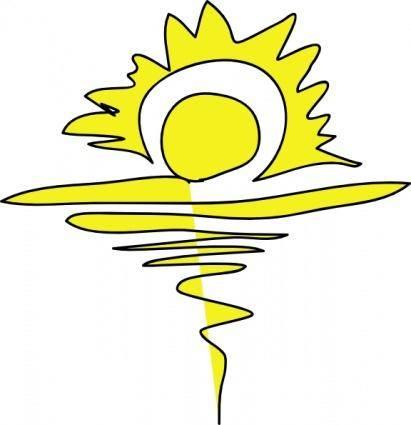 A Sanyal Sunrise clip art