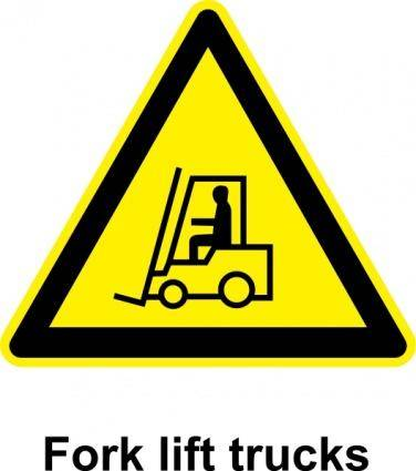 Sign Fork Lift Trucks clip art