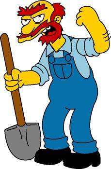 free vector Groundskeeper Willie 1