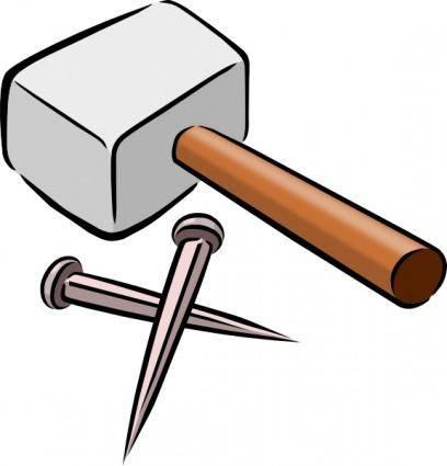 Snarkhunter Hammer And Nails clip art