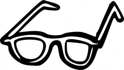 free vector Sunglasses Outline clip art