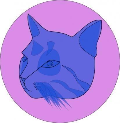 Blue Cat clip art
