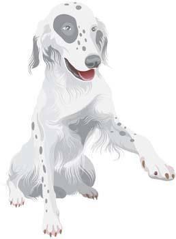 free vector Sitting Dog 1