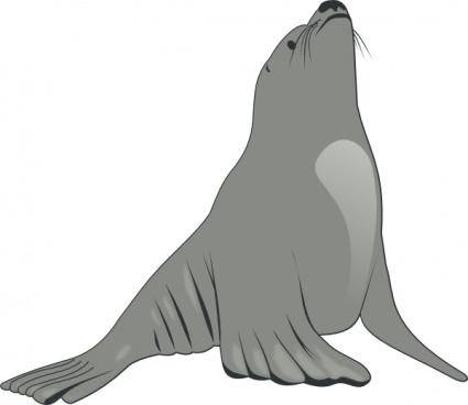free vector Valessiobrito Sea Lion clip art