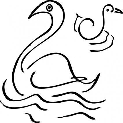 free vector Swan clip art