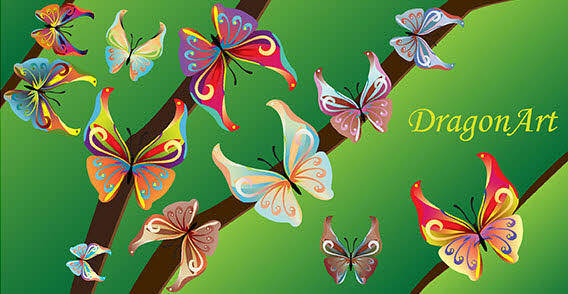 14 Colorful butterflies