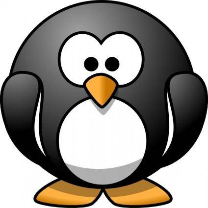 free vector Cartoon Penguin clip art