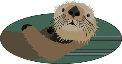 free vector Sea Otter clip art