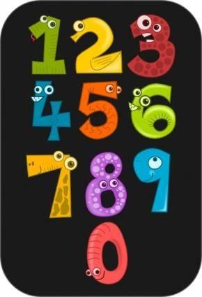 free vector Kablam Number Animals clip art