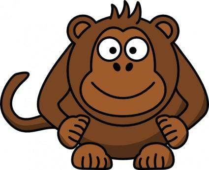 free vector Studiofibonacci Cartoon Monkey clip art