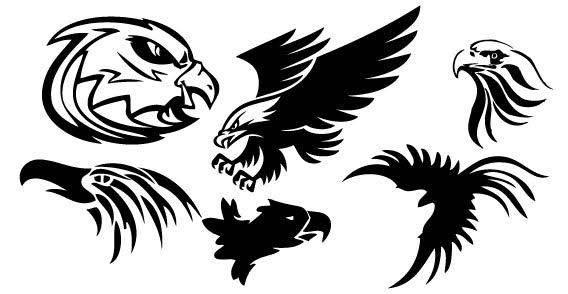 free vector Fire birds set