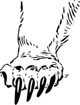 Grizzly Bear Paw clip art