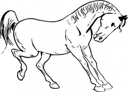 Prancing Horse Outline clip art