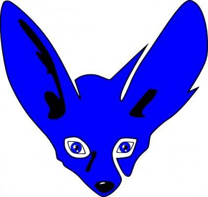 Blue Fennec clip art